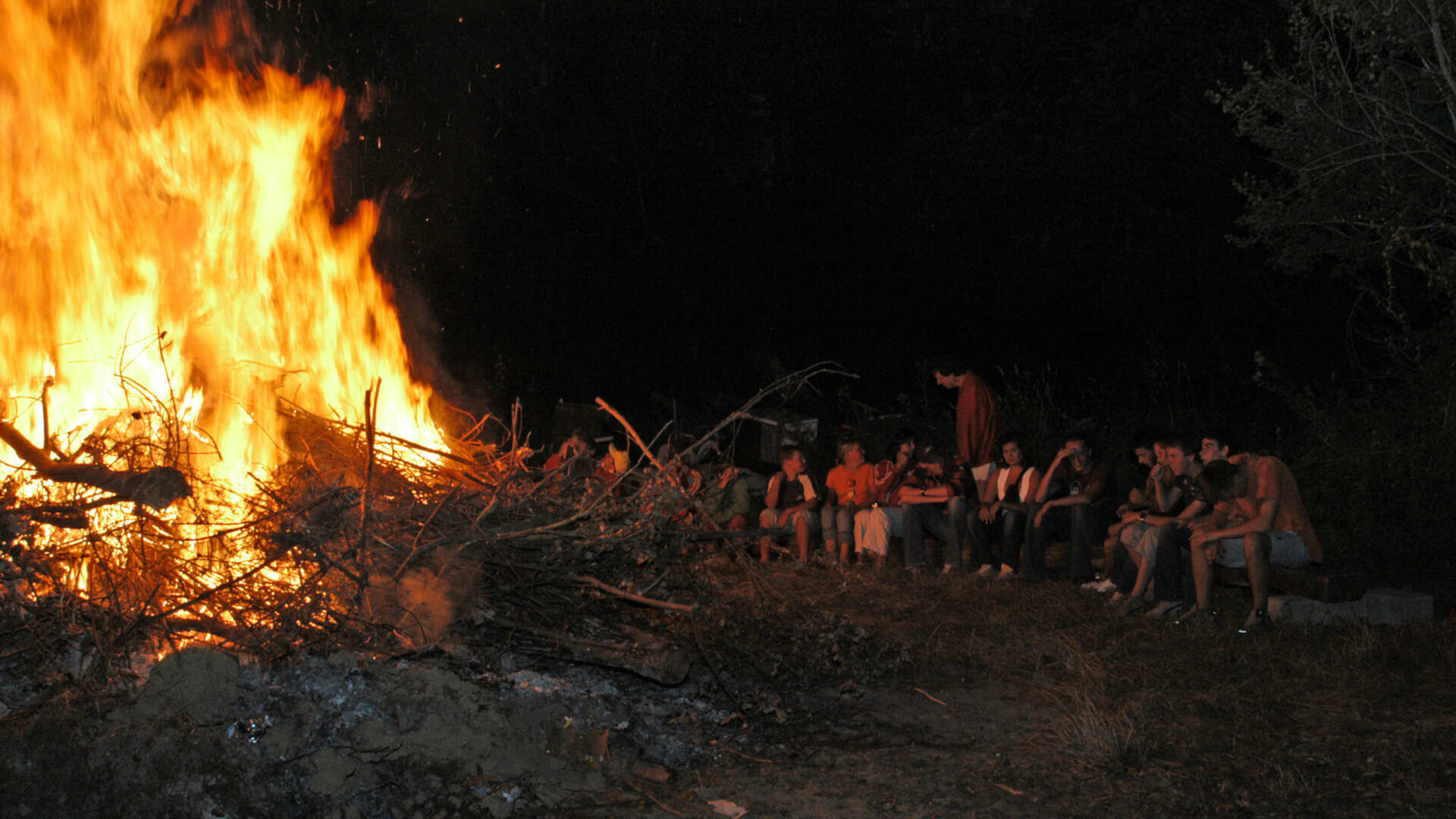 naturist campsite evening